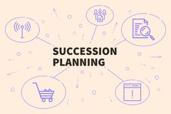 Conceptual business illustration with the words succession plann. Ing Royalty Free Stock Image