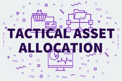 Conceptual business illustration with the words tactical asset a. Llocation Stock Photos