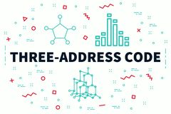 Conceptual business illustration with the words three-address co. De Royalty Free Stock Photos