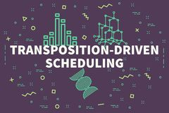 Conceptual business illustration with the words transposition-dr. Iven scheduling Royalty Free Stock Photo