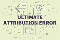 Conceptual business illustration with the words ultimate attribu. Tion error Stock Photos