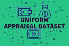 Conceptual business illustration with the words uniform appraisa. L dataset Stock Photos