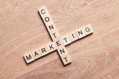 Conceptual business keywords on table with elements of game maki Royalty Free Stock Image