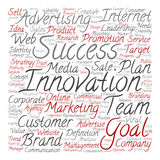 Conceptual business leadership word cloud Stock Photography