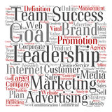 Conceptual business leadership word cloud Royalty Free Stock Image