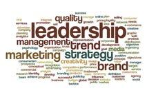 Conceptual business marketing word cloud Stock Photos