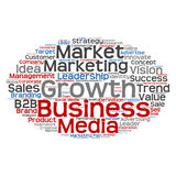 Conceptual business marketing word cloud Stock Photo