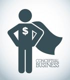 Conceptual business Royalty Free Stock Photos