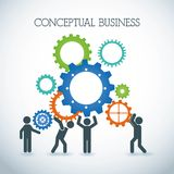 Conceptual business Royalty Free Stock Images