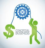 Conceptual business Royalty Free Stock Photography