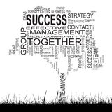 Conceptual business success tree word cloud