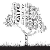 Conceptual business trend tree word cloud Stock Photography