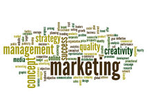 Conceptual business word cloud Royalty Free Stock Photography