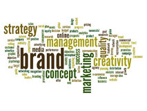 Conceptual business word cloud Royalty Free Stock Images