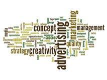 Conceptual business word cloud Stock Photos