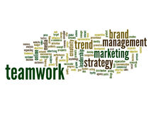 Conceptual business word cloud Royalty Free Stock Photos