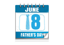 Conceptual calendar for Fathers Day 2017. 18 June Royalty Free Stock Photos