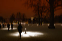 Stormy night. Conceptual capture - stormy night in the park after snow royalty free stock images