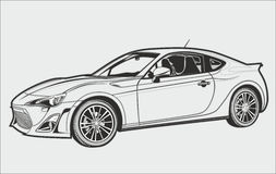 The conceptual car royalty free illustration