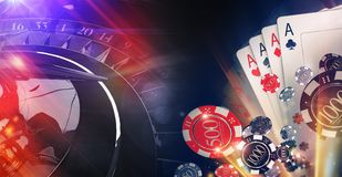 Conceptual Casino Illustration Royalty Free Stock Images