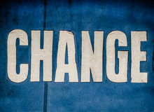 Conceptual Change Sign Royalty Free Stock Photo