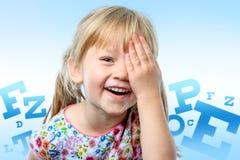 Conceptual children vision test. Stock Photos