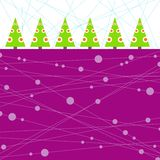 Conceptual christmas card. Illustration of the conceptual trees on the bright background Royalty Free Stock Images