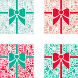 Conceptual Christmas Gift Stock Images