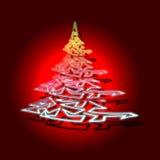Conceptual Christmas tree Stock Image