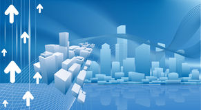 Conceptual city business background Stock Photography