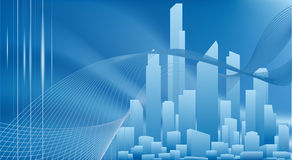 Conceptual city business background Royalty Free Stock Photo