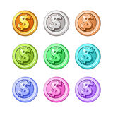 Conceptual coin money isolated on a white Royalty Free Stock Photo