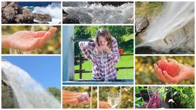 Conceptual collage, water is life on our planet stock footage