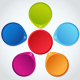 Conceptual colorful circular banners with arrows Royalty Free Stock Photography