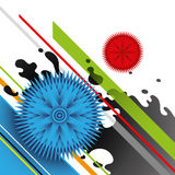Conceptual colorful graphic. royalty free illustration