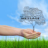 Conceptual communication tree word cloud Royalty Free Stock Photo