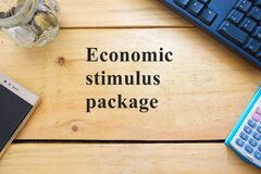 Free Conceptual Covid-19 Government Economic Stimulus Package  Stock Photography - 185643812