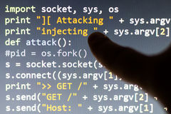 Conceptual cyber attack code. Stock Photography