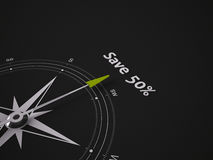Conceptual 3D Compass Royalty Free Stock Image