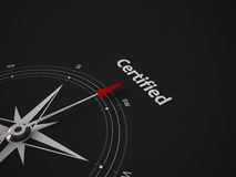 Conceptual 3D Compass Royalty Free Stock Photo