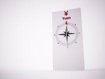 Conceptual 3D Compass Stock Image