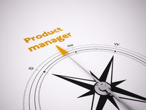 Conceptual 3D Compass Royalty Free Stock Photography