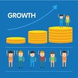 Conceptual de gráfico de negocio Foto de archivo