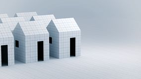 Paper house structural and Architecture Concept stock photo
