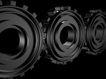 Conceptual design technology gears theme background Stock Images