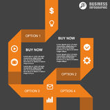 Conceptual  Design template. infographics element. Percent, economy, buy, dealers, business, plan, concept, , brokers, success, portfolio, presentation, location Royalty Free Stock Photo