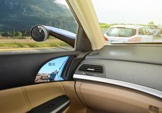 Conceptual design of Virtual Side Mirrors, Use Small cameras instead of Mirrors, Aerodynamic. Technology royalty free stock photo