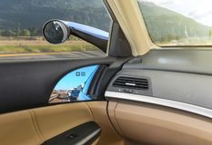 Conceptual design of Virtual Side Mirrors, Use Small cameras instead of Mirrors, Aerodynamic. Technology royalty free stock image