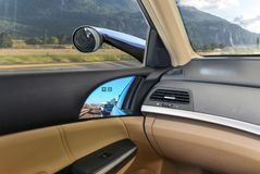 Conceptual design of Virtual Side Mirrors, Use Small cameras instead of Mirrors, Aerodynamic. Technology royalty free stock images