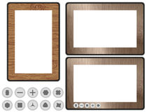 Conceptual Design Wooden Tablet PC Illustration Stock Images